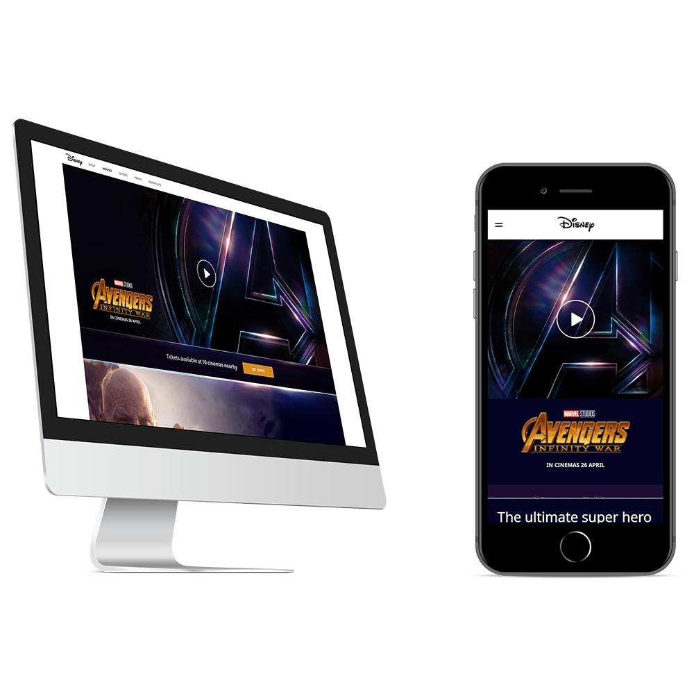 Disney EMEA Website